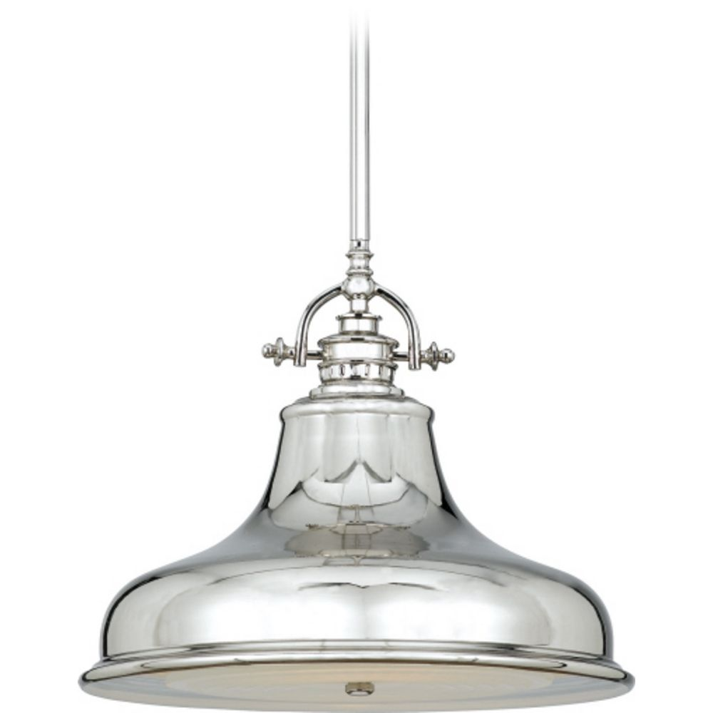 Quoizel Lighting Farmhouse Pendant Light Silver Emery By ER1814IS Hover Or Click To Zoom