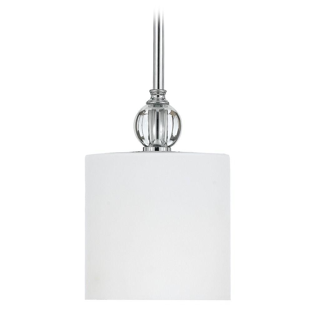 Modern mini pendant light with white glass dw1506c for Modern white pendant lighting