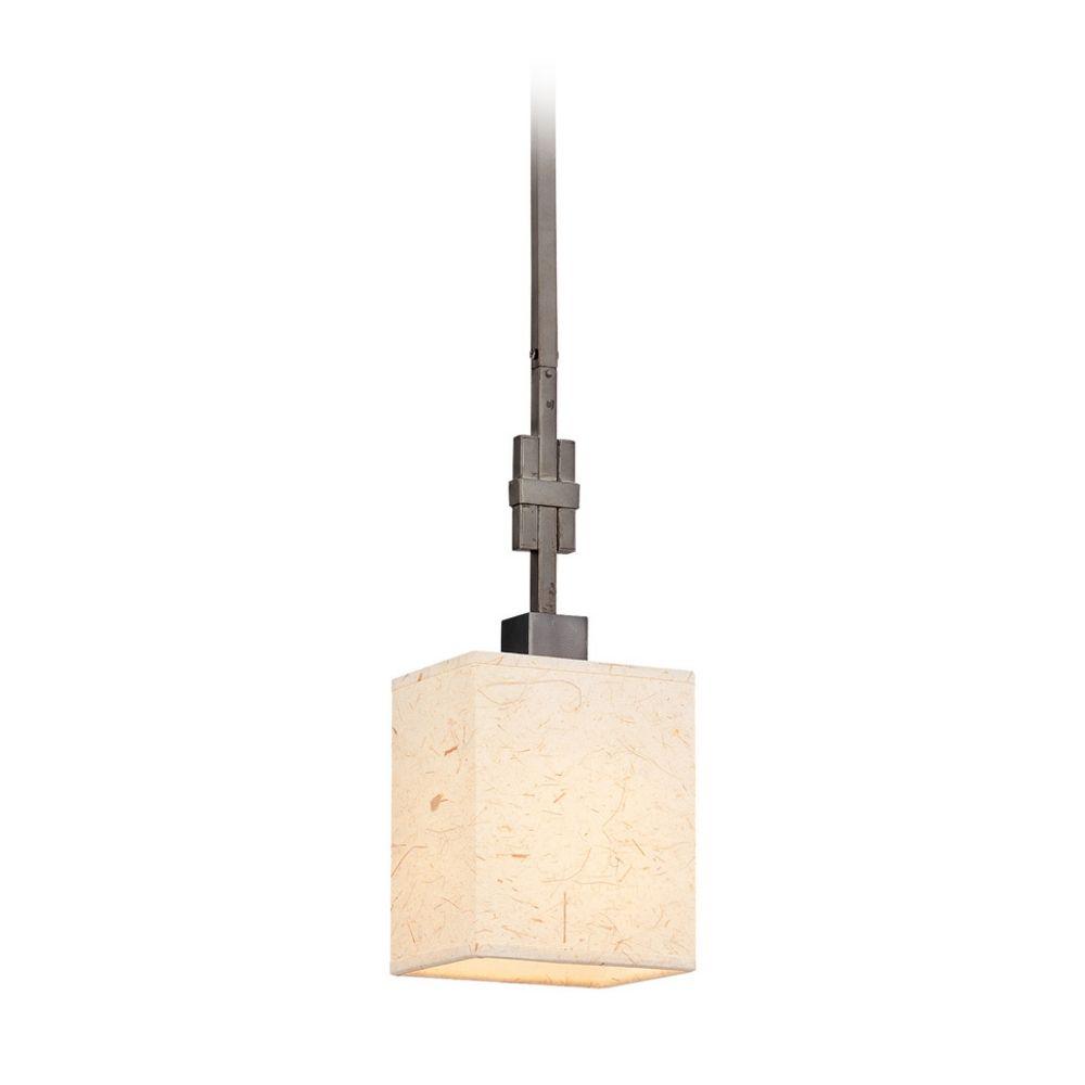 Modern Mini Pendant Light With Beige Cream Paper Shade Destination Lighting