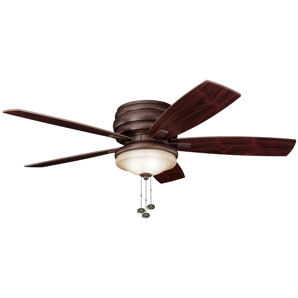 kichler lighting kichler ceiling fan with light kit in bronze finish. Black Bedroom Furniture Sets. Home Design Ideas