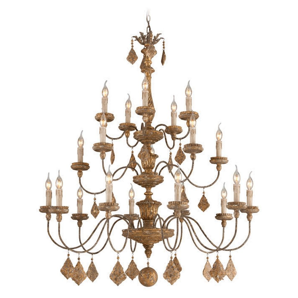 Troy Lighting Calais Aged Wood with Distress Gold Leaf