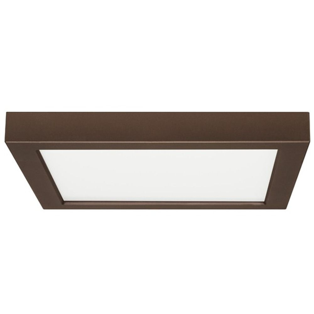 flush mount led light square bronze 9 inch 2700k 120v 8342 27 bz