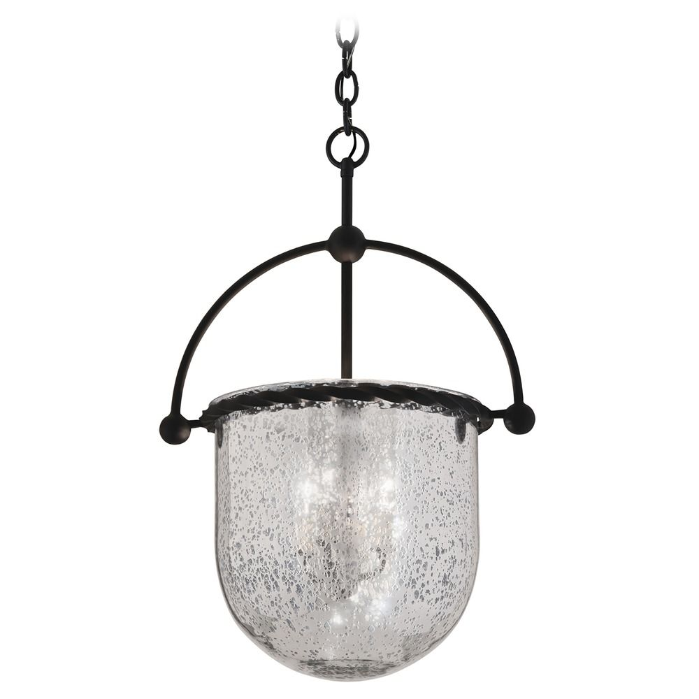 Troy Lighting Pendant Light with Mercury Glass in Old Iron Finish F2564.  Hover or Click to Zoom