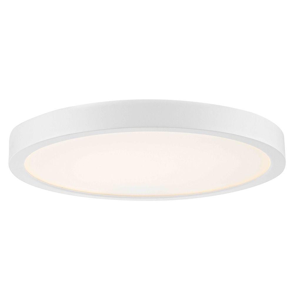 Flat led light surface mount 10 inch round white 2700k 1511lm at destination lighting