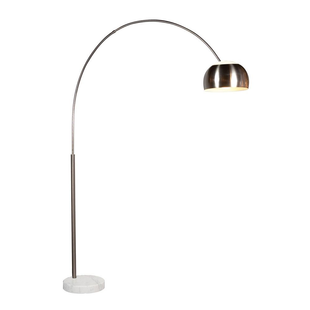 Modern Arc Lamp In Satin Nickel Finish 4096 13g