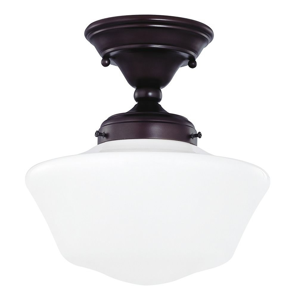 10 Inch Bronze Schoolhouse Ceiling Light Fas 220 Ga10