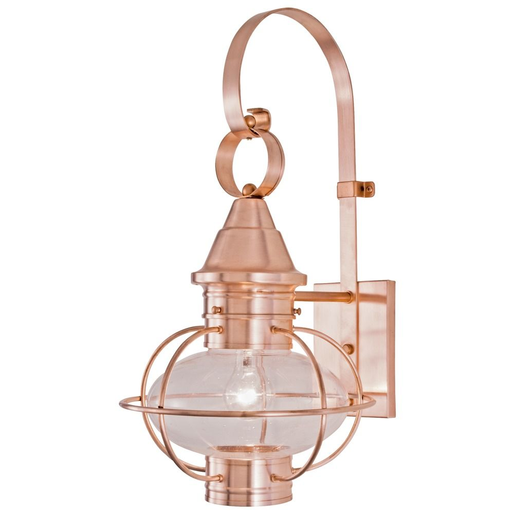 Metal Outdoor Wall Lights : Norwell Lighting Vidalia Onion Gun Metal Outdoor Wall Light 1613-GM-CL Destination Lighting