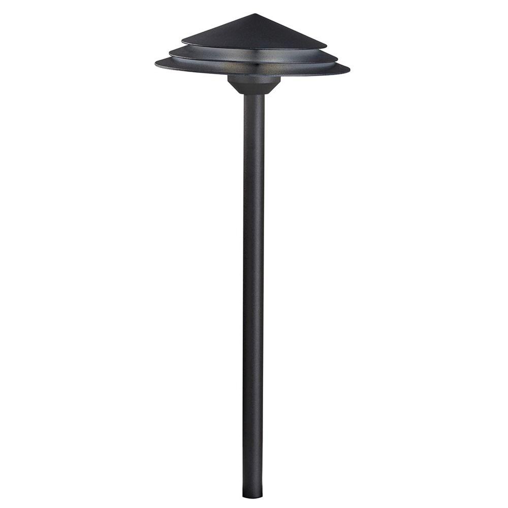 Kichler lighting textured black led path light for Led walkway lights