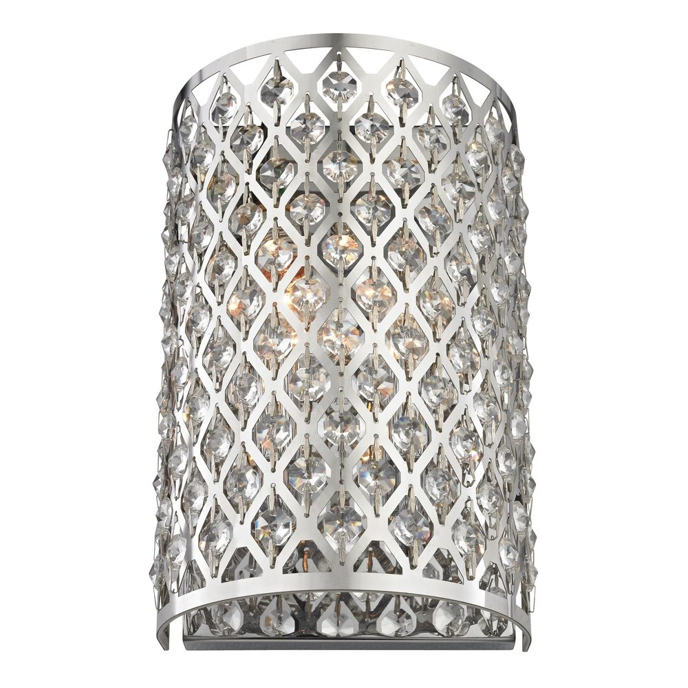 Modern crystal wall sconce with two lights 2248 destination modern crystal wall sconce with two lights alt1 amipublicfo Choice Image