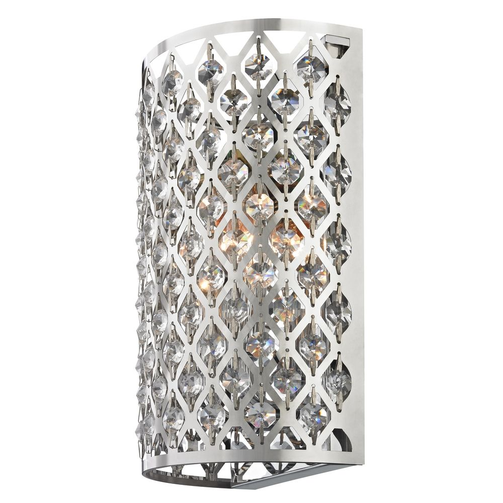 Modern Crystal Wall Sconce With Two Lights 2248 Destination Lighting