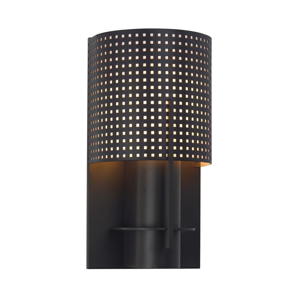 Bronze Finish Wall Lights : Modern Sconce Wall Light in Black Bronze Finish 1710.32MF Destination Lighting