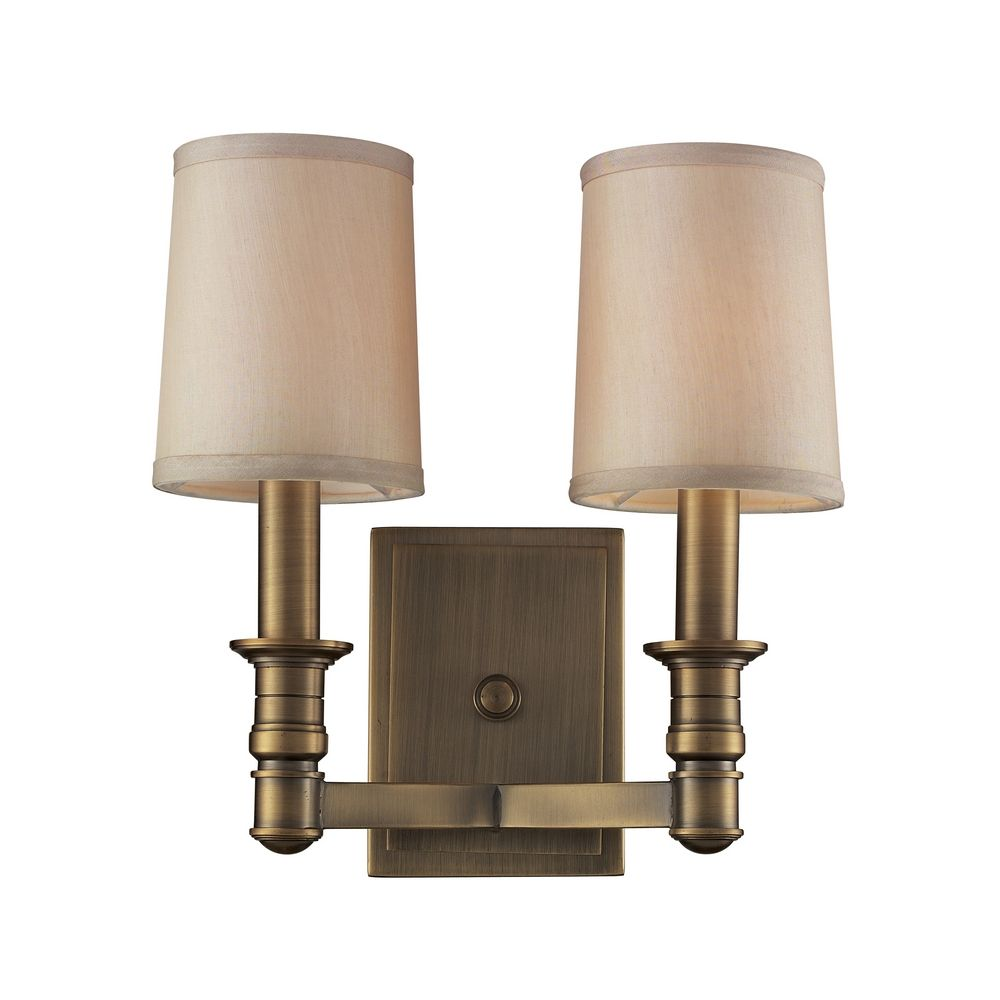 Sconce Wall Lights in Brushed Antique Brass Finish 31261/2 Destination Lighting