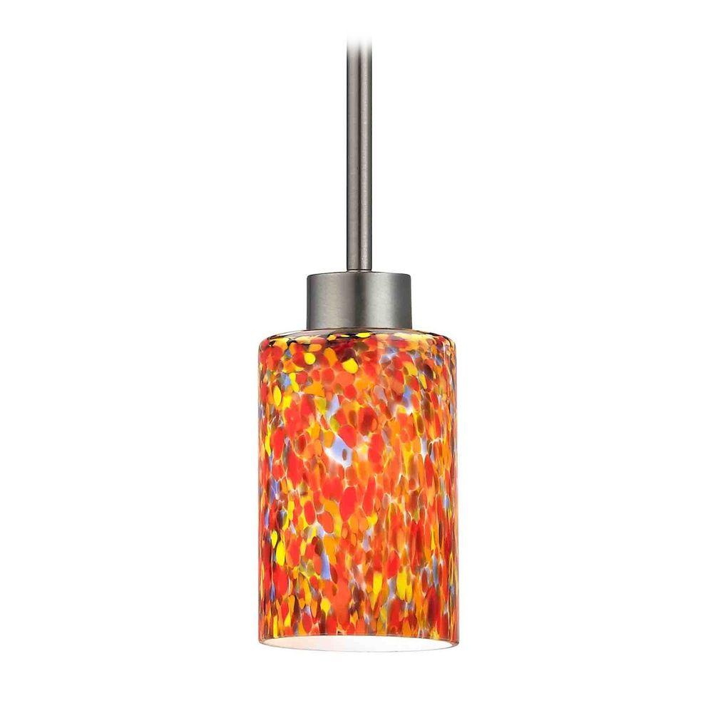 Modern mini pendant light with multi color glass 1123 1 - Colored glass pendant lights ...