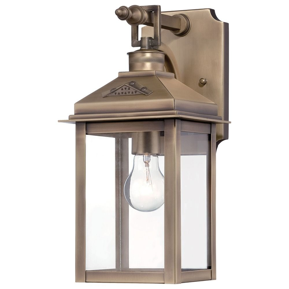 Minka lighting eastbury colonial brass outdoor wall light for Outdoor colonial lighting