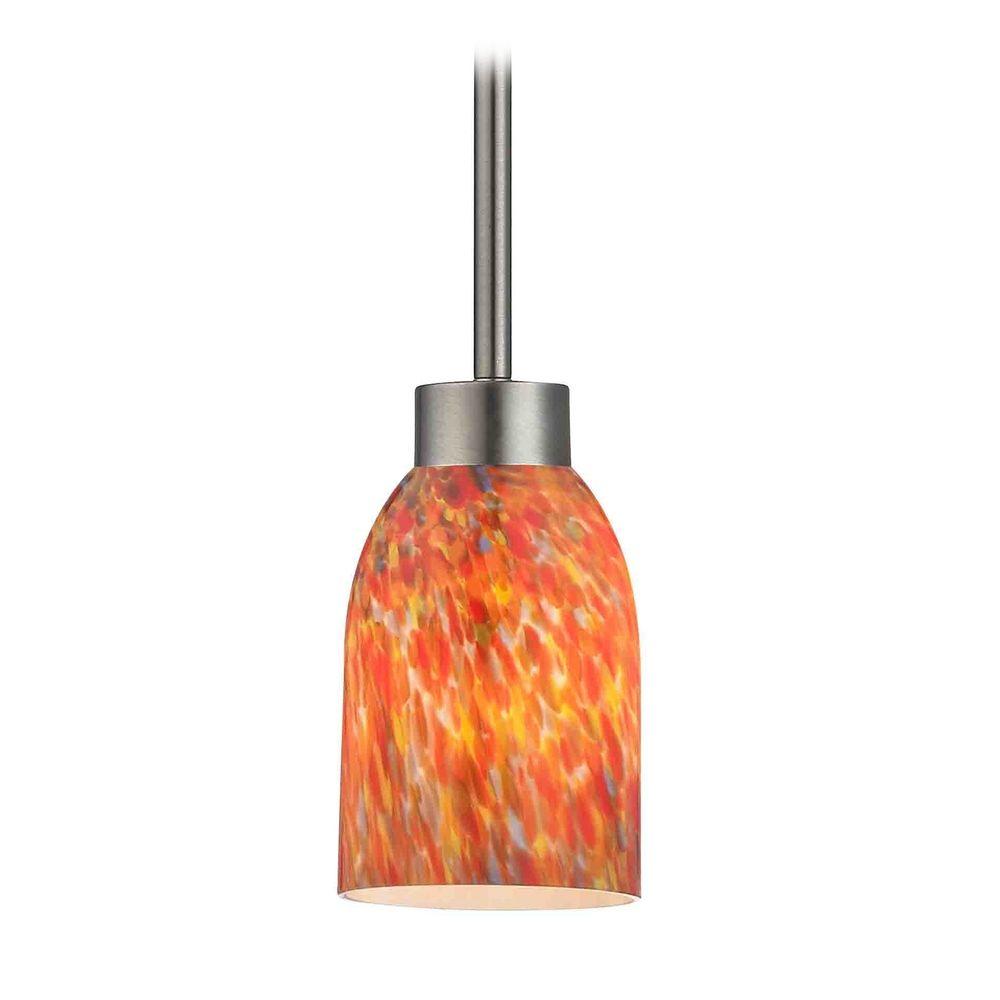 modern mini pendant light with multi color glass 1123 1