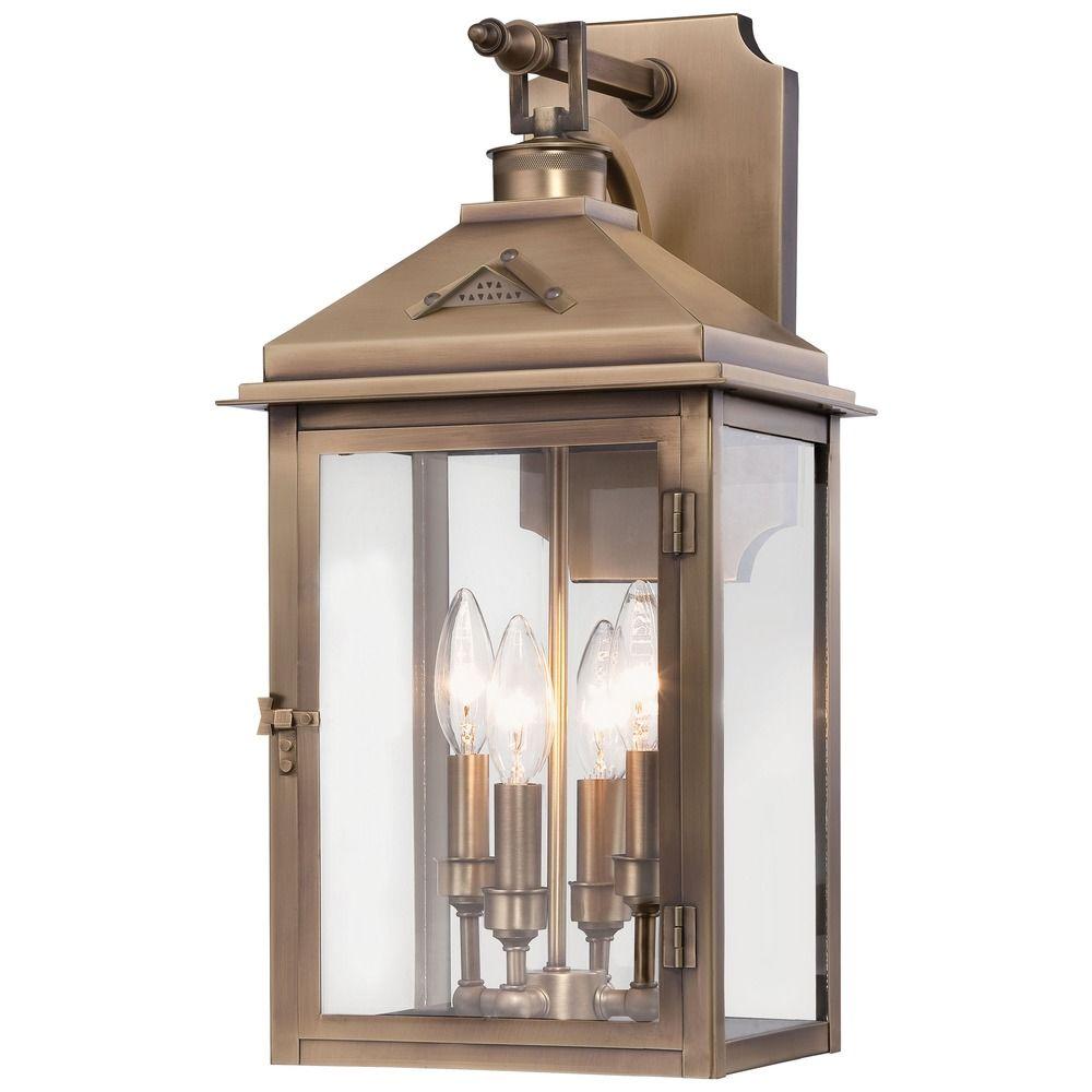 Minka lighting eastbury colonial brass outdoor wall light for Outdoor colonial lighting