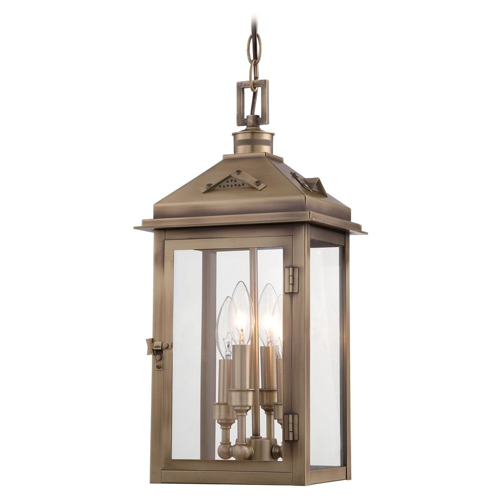 Minka lighting eastbury colonial brass outdoor hanging for Outdoor colonial lighting