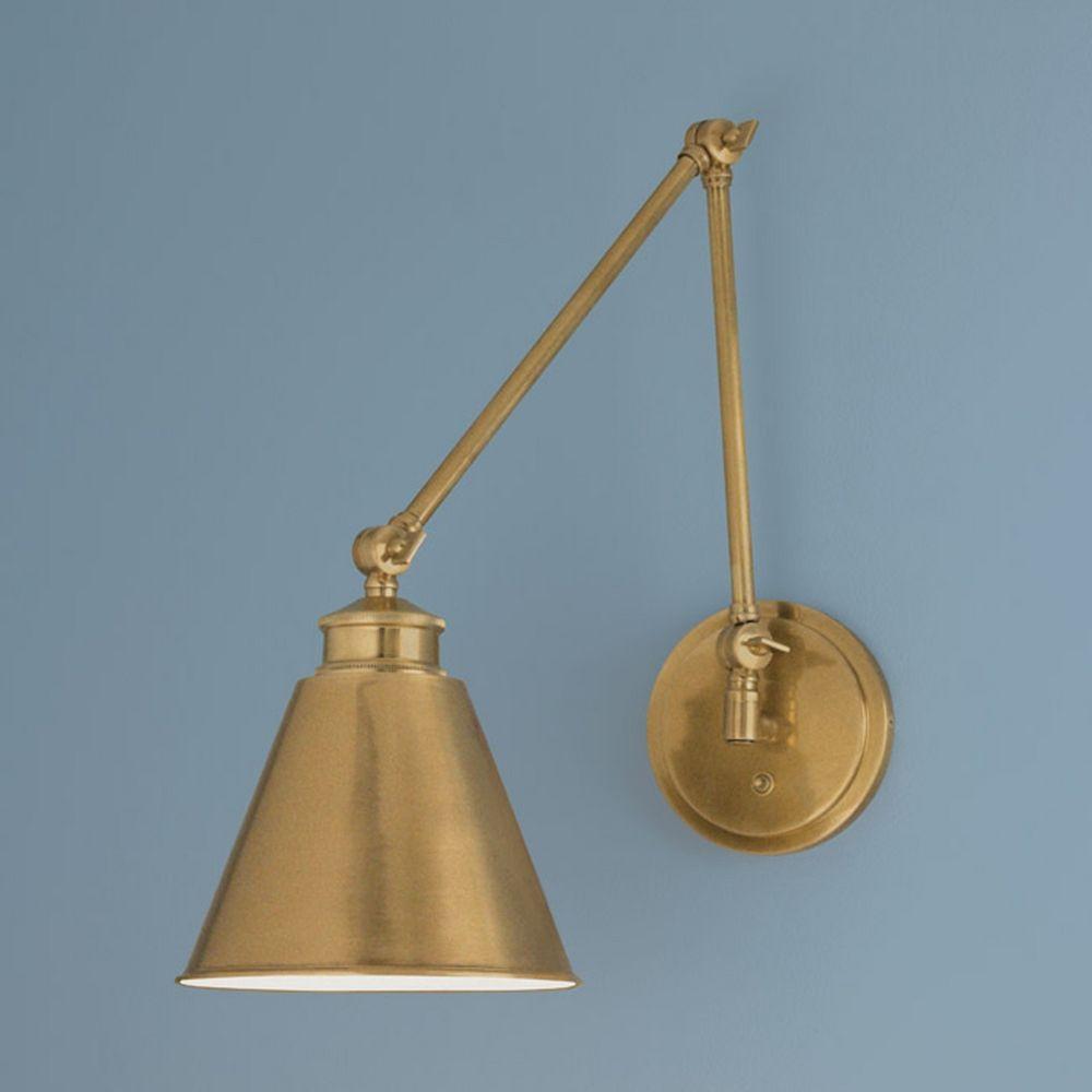 Norwell Lighting Aidan Aged Brass Swing Arm Lamp 8475 Ag