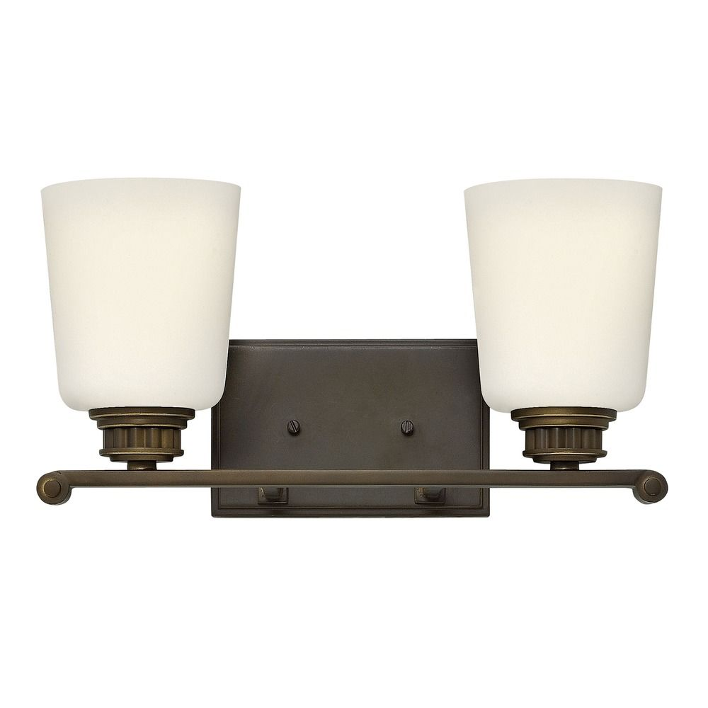 Hinkley lighting annette olde bronze bathroom light for Hinkley bathroom vanity lighting