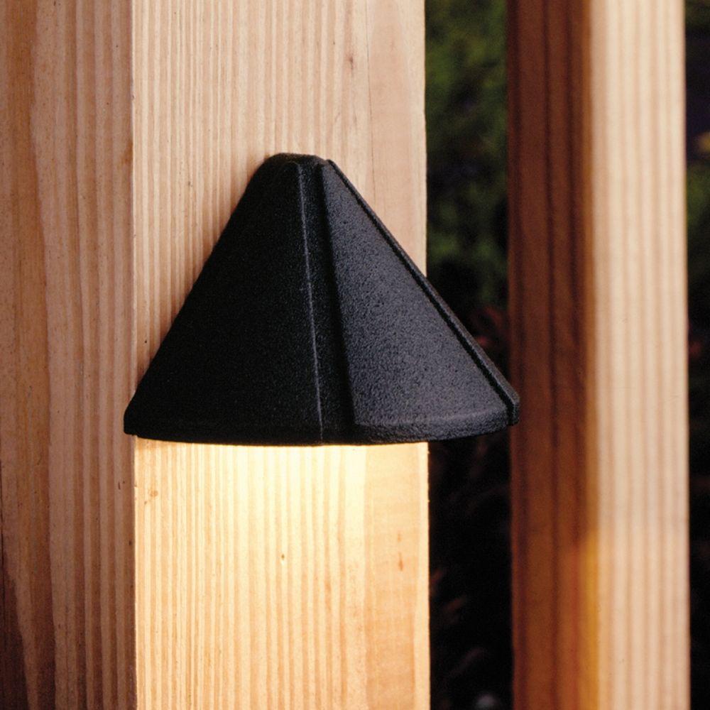 Kichler low voltage deck light 15065bkt destination for Low voltage light fixtures