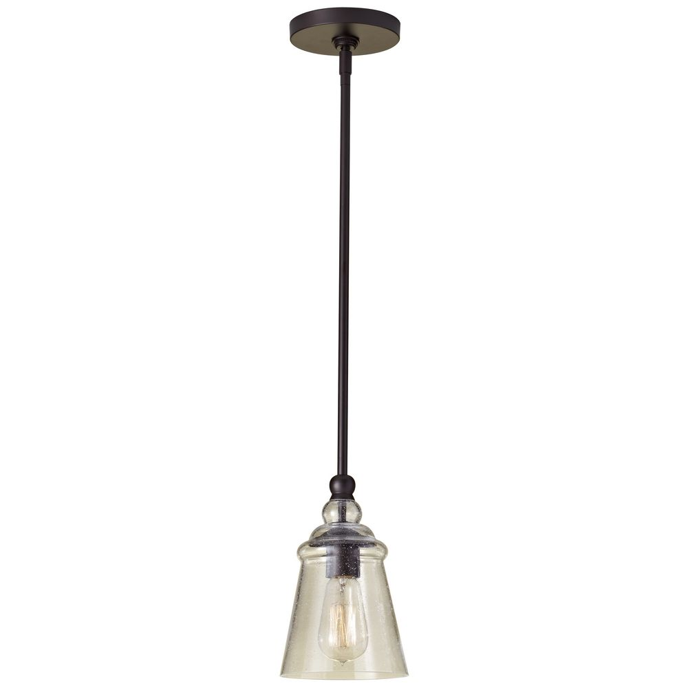 Mini-Pendant Light with Clear Glass | P1261ORB | Destination Lighting