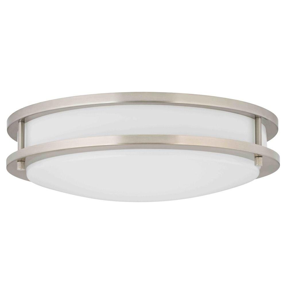 Led flush ceiling light satin nickel 14 inch 3014 90 09 t16 led flush ceiling light satin nickel 14 inch off aloadofball Images