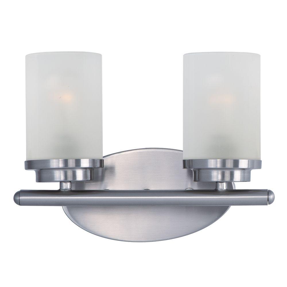 Maxim Lighting Corona Satin Nickel Bathroom Light 10212ftsn Destination Lighting