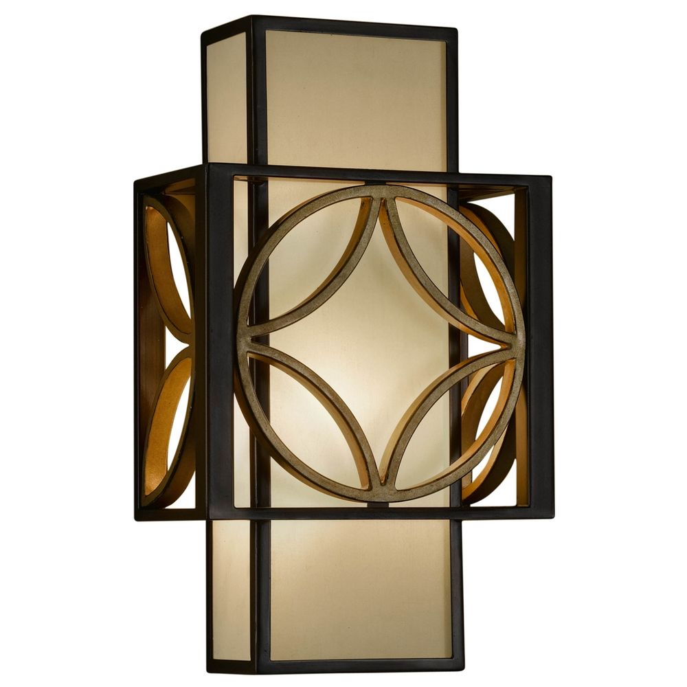 Gold Finish Wall Sconces : Sconce Wall Light with Brown Tones Shade in Heritage Bronze/parissiene Gold Finish WB1446HTBZ ...