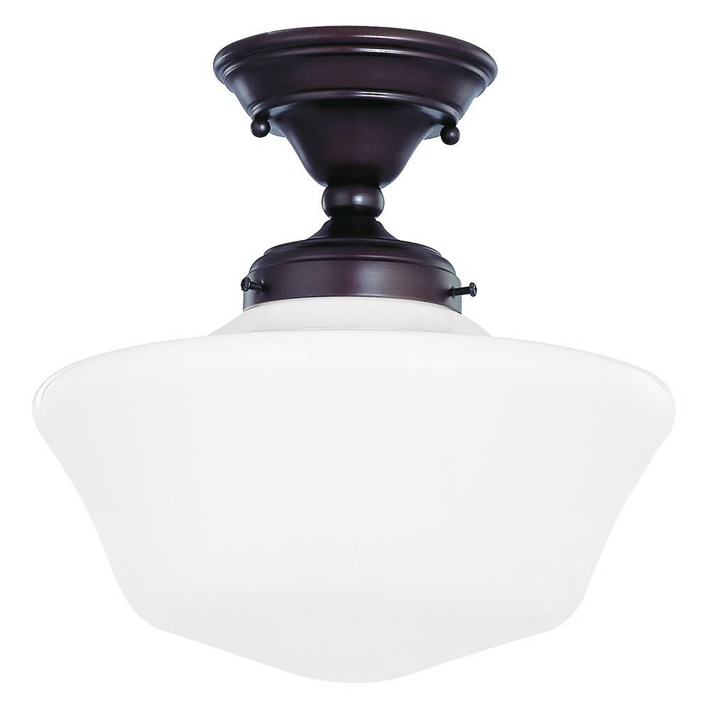 Exceptionnel Design Classics Lighting 12 Inch Schoolhouse Ceiling Light In Bronze Finish  FAS 220 /