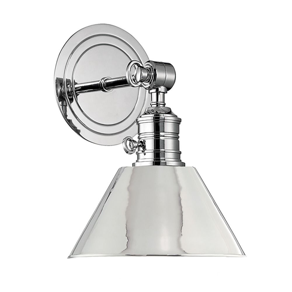 Sconce Wall Light In Polished Nickel Finish 8321 Pn