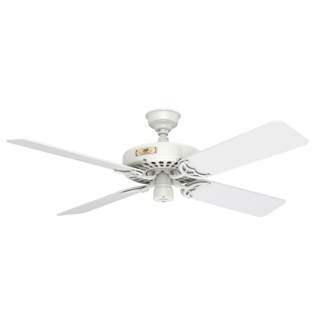 White Ceiling Fan : Hunter fan company original white ceiling without