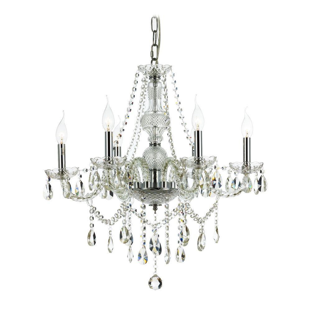 Traditional Crystal Chandelier with Six Lights – Traditional Crystal Chandelier