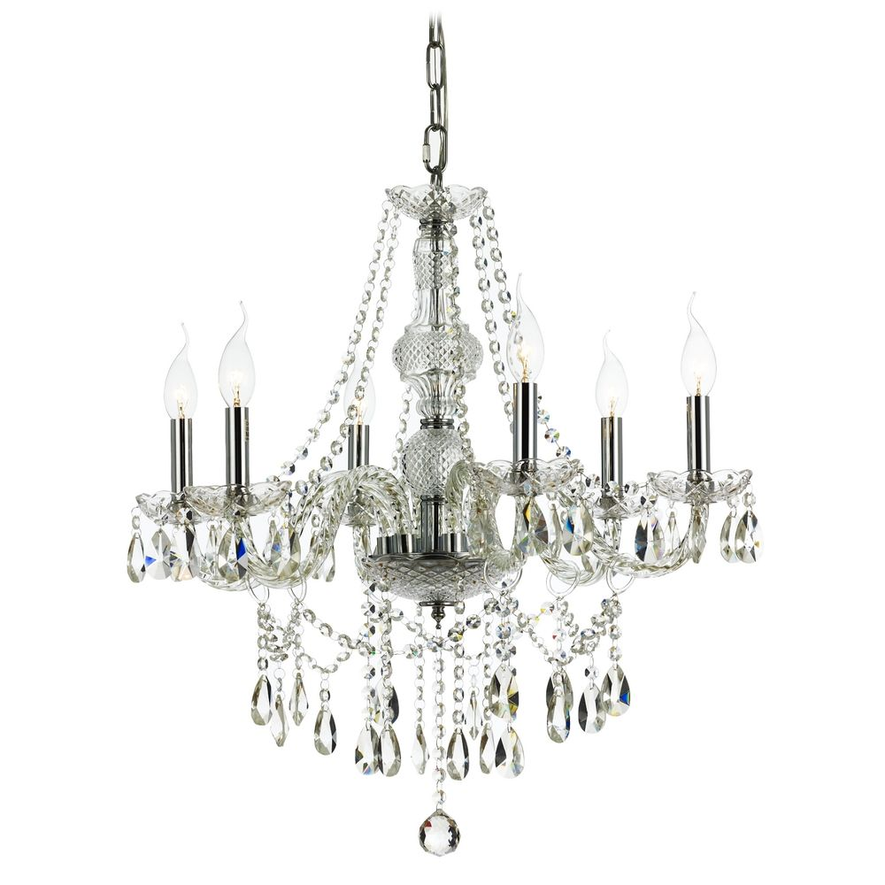 Traditional crystal chandelier with six lights 2251 destination lighting - Traditional crystal chandeliers ...