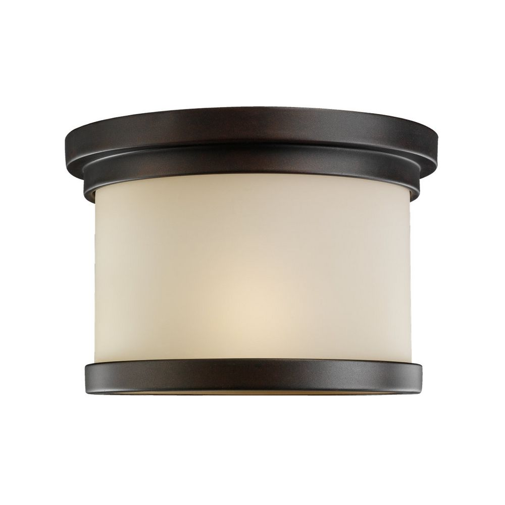 Close To Ceiling Modern Lights : Modern close to ceiling light in misted bronze finish