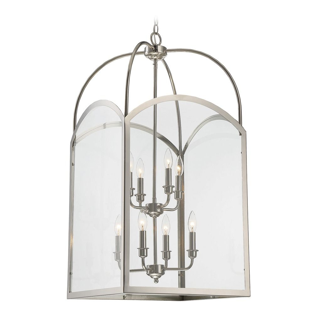 Savoy house lighting garrett polished nickel pendant light for Savoy house