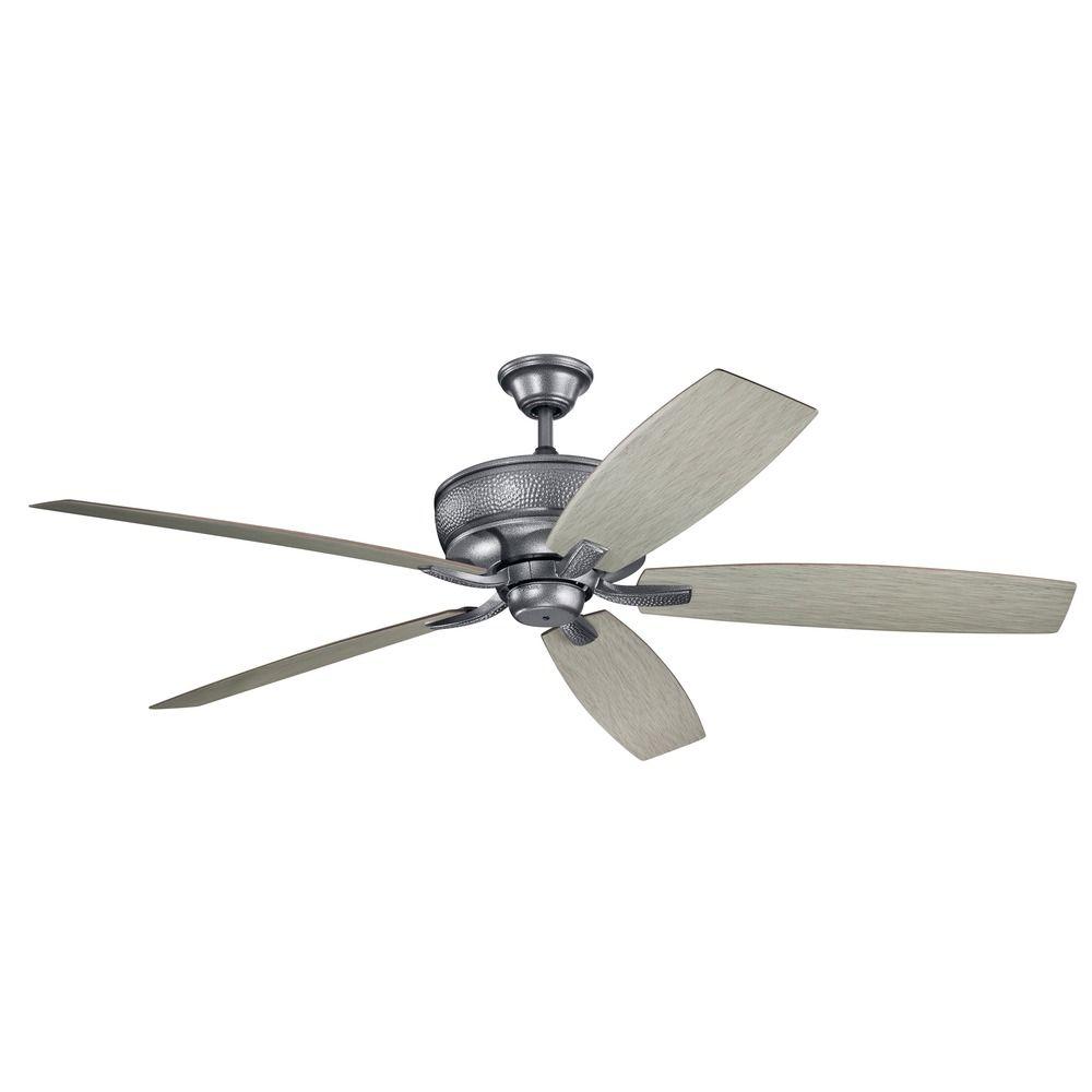 70-Inch 5 Blade Ceiling Fan Weathered Steel Powder Coat By