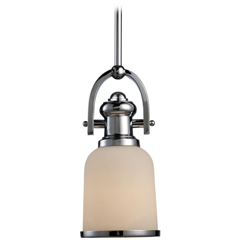 mini pendant light with white shade 66151 1 destination lighting. Black Bedroom Furniture Sets. Home Design Ideas