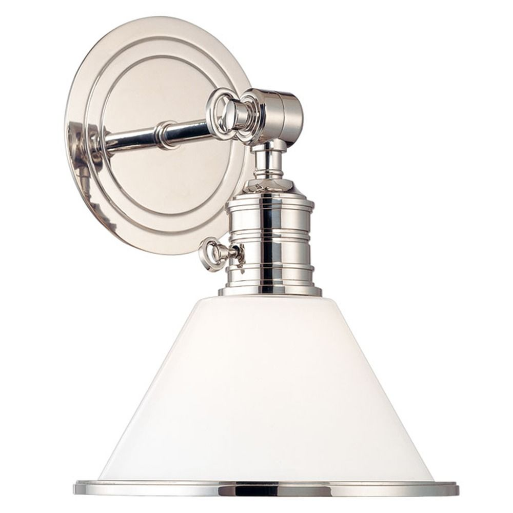 Single-Light Switched Sconce with Switch 8331-PN Destination Lighting