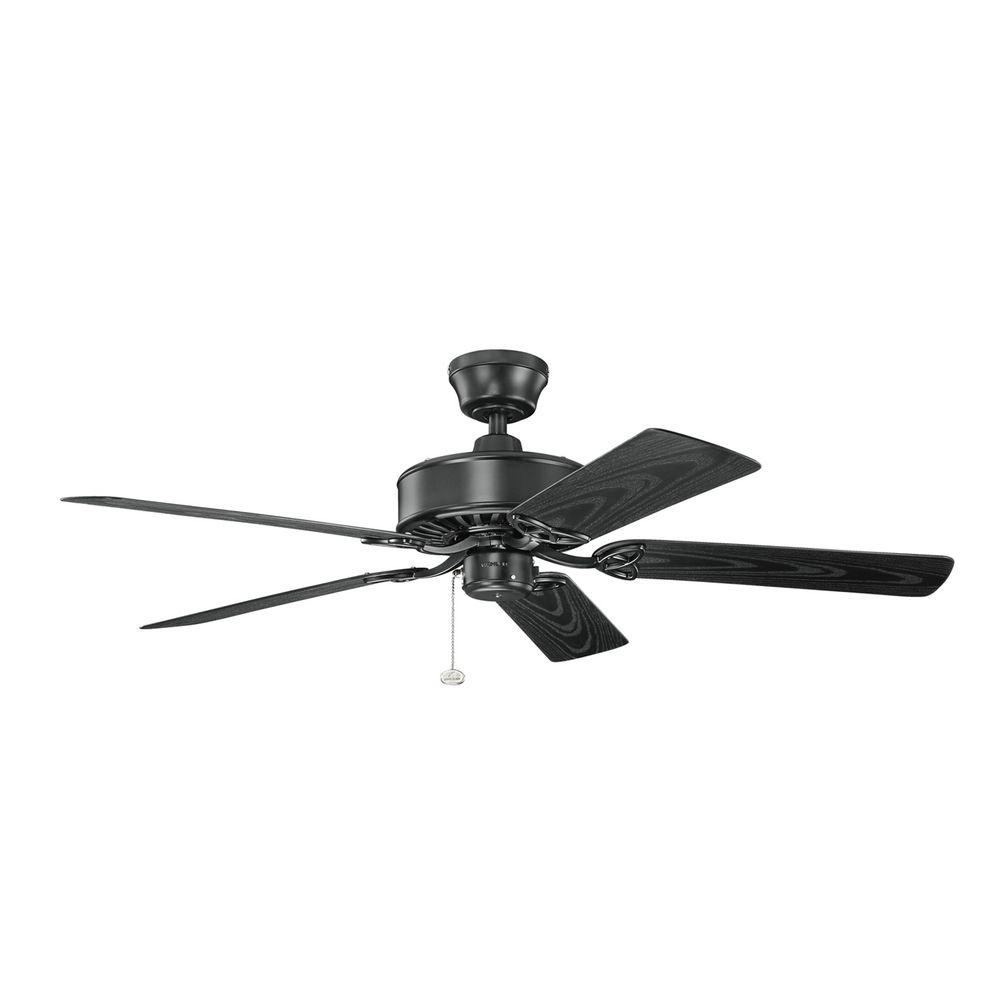 Kichler Lighting Renew Patio Satin Black Ceiling Fan
