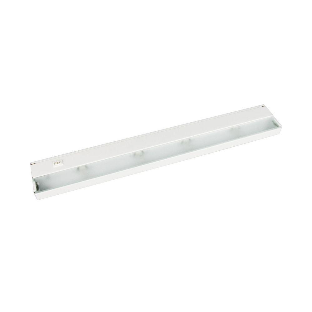24 inch halogen under cabinet light direct wire 120v white by progress lighting p7035 30wb. Black Bedroom Furniture Sets. Home Design Ideas