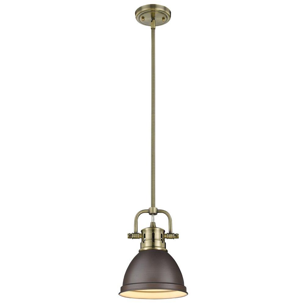 golden lighting duncan ab aged brass mini