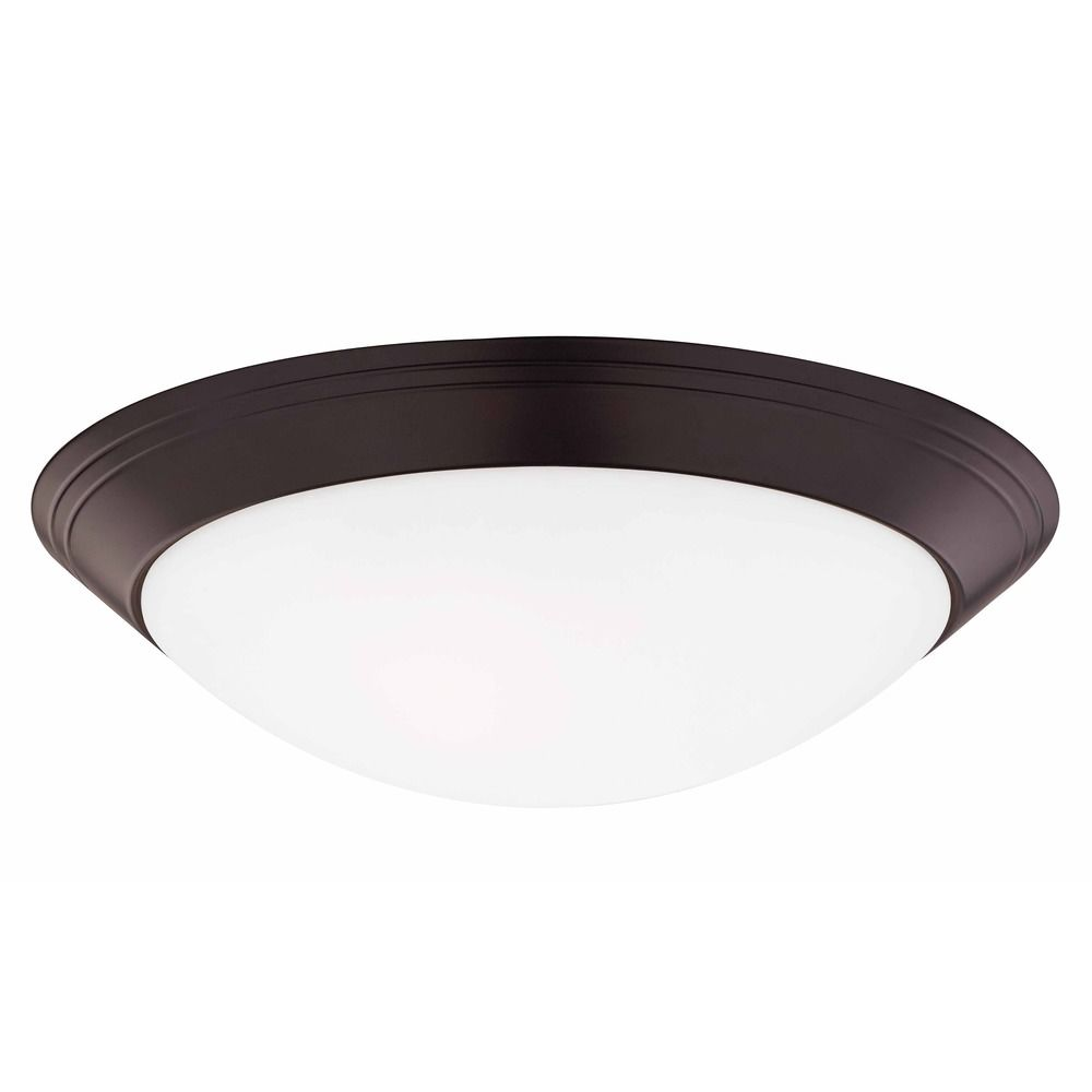 Bronze Flush Ceiling Light 14 Inch Wide At Destination Lighting