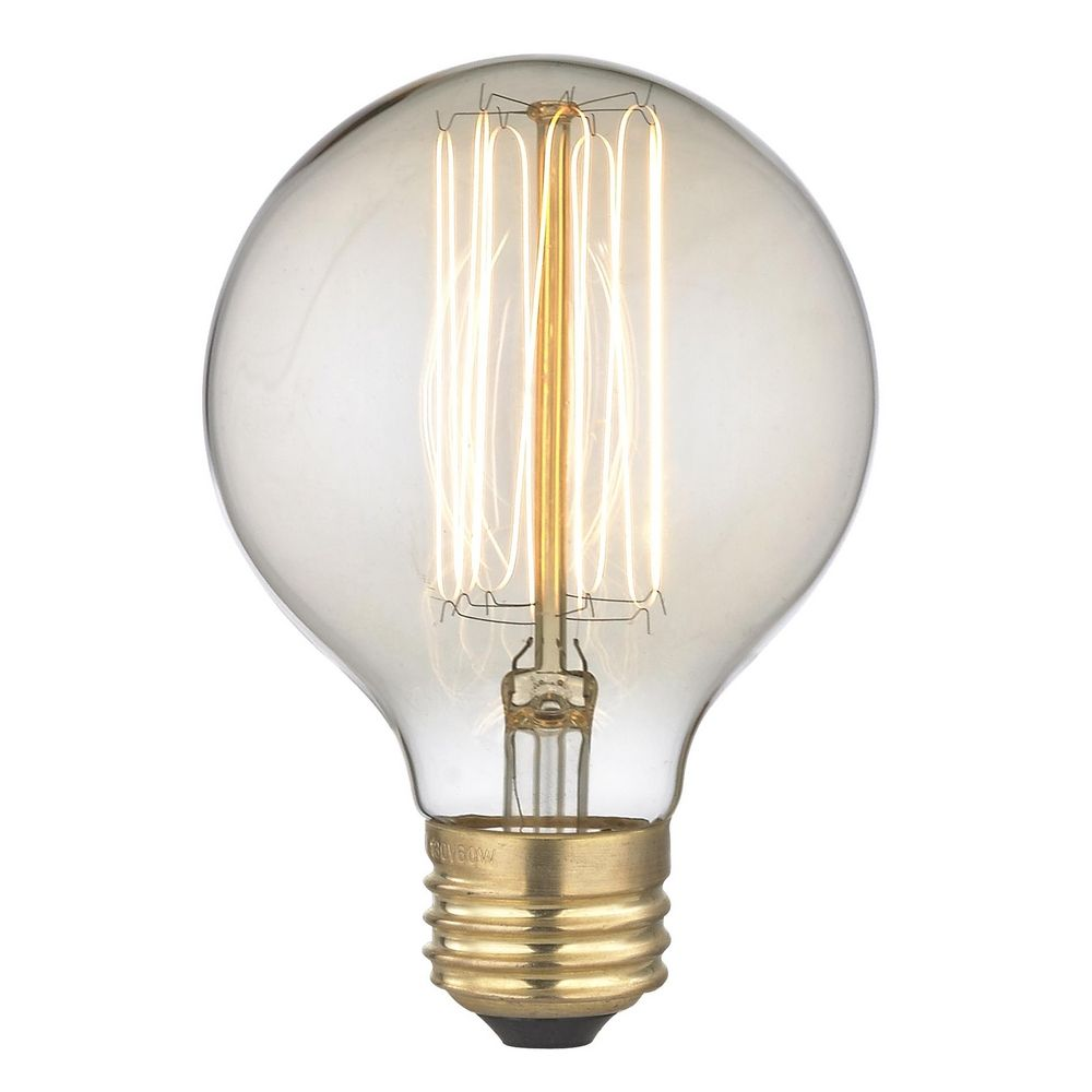 Nostalgic Edison Carbon Filament G25 Globe Light Bulb 60 Watts 60g25 Filament Destination
