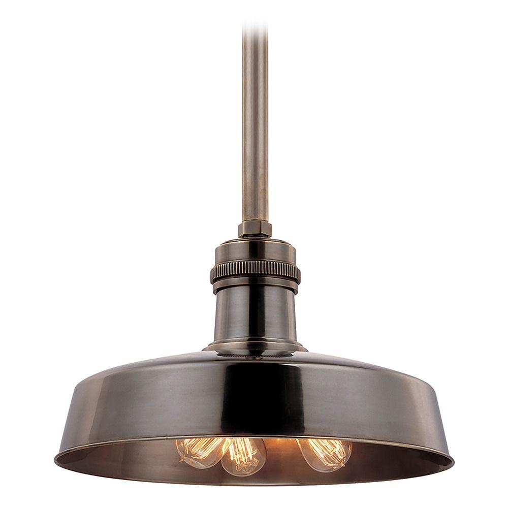 modern pendant light in distressed bronze finish 8618 db