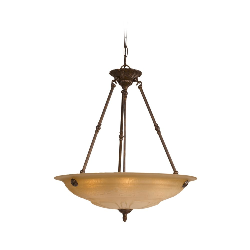 crystorama lighting pendant light with amber glass in. Black Bedroom Furniture Sets. Home Design Ideas