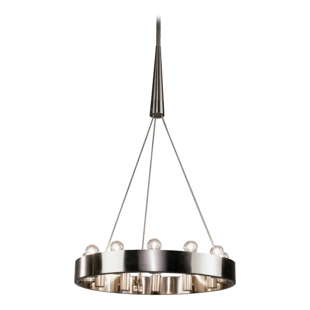 Chandelier 12 Light Brushed Nickel By Robert Abbey At Destination Lighting