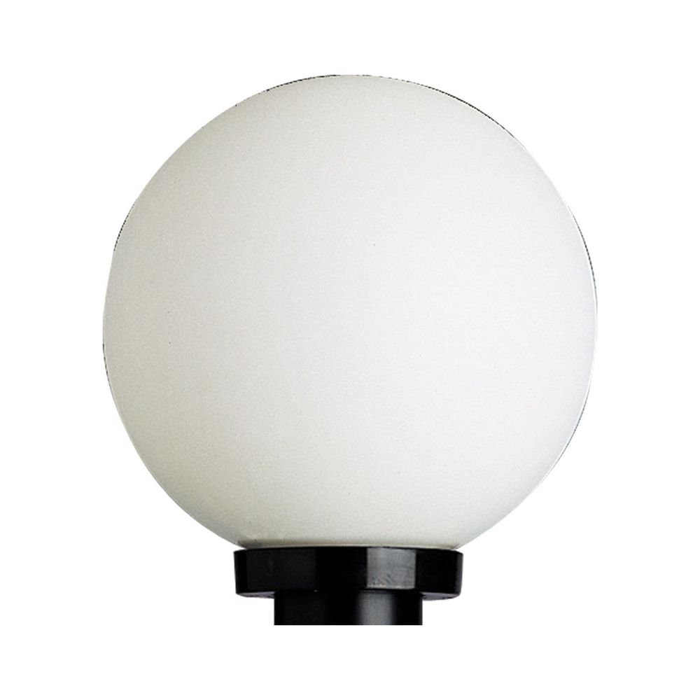 Mid Century Modern Post Light Black Acrylic Globe by