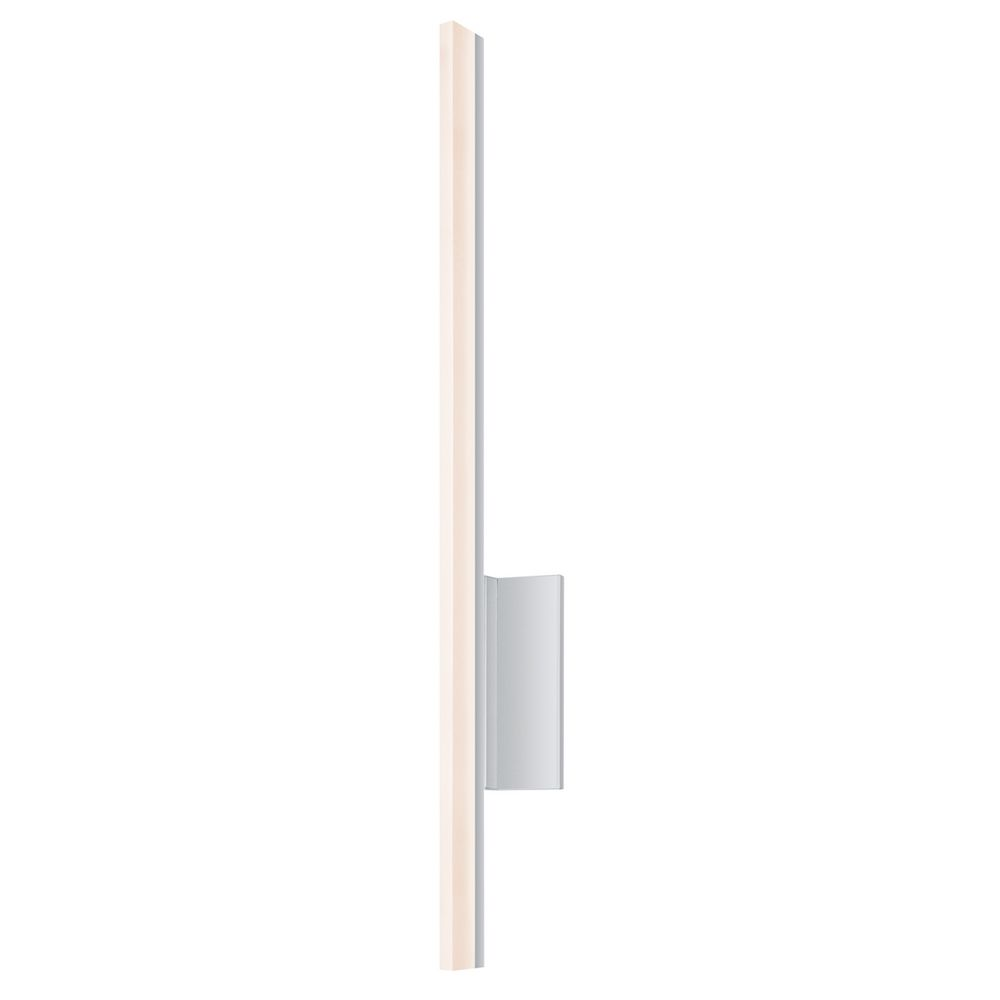 Vanity Lighting Vertical : Stiletto LED Bright Satin Aluminum LED Bathroom Light - Vertical Mounting Only 2340.16-DIM ...