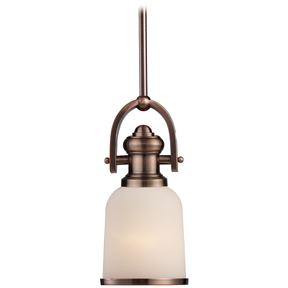 Mini Pendant Light With White Glass 66181 1