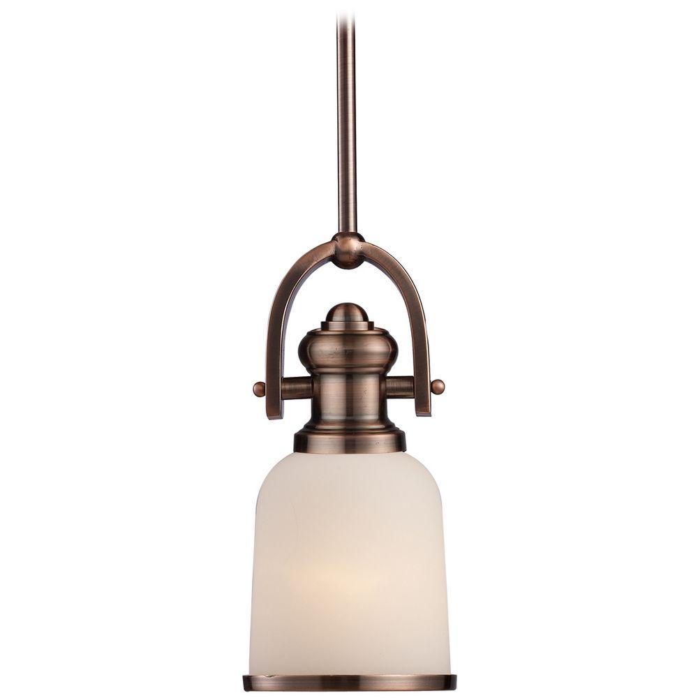 mini pendant light with white glass 66181 1 destination lighting. Black Bedroom Furniture Sets. Home Design Ideas